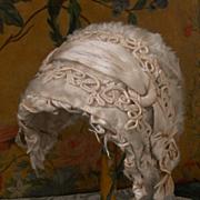 ~~~ Pretty French Silk Velour Bebe Bonnet ~~~