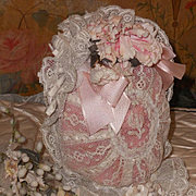 ~~~ Superb 19th. Century French Bebe Lace Bonnet ~~~