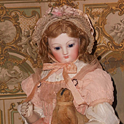 ~~~ Outstanding French Bisque Poupee with rare Wooden and Kid Body ~~~
