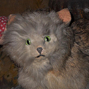 REDUCED ~~~ Cute 19th. century Antique Pussy Cat for Doll Display ~~~