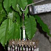 ~~~ Superb Filigree Tin Ceiling Cap Candelabra for Fashion Room / 1890 ~~~