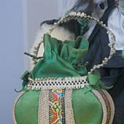 ~~~ Very Beautiful Fashion Doll Bag / France circa 1890 ~~~