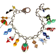 SOLD Fun at the Beach Charm Bracelet with Brightly-Colored Charms and Sparkling Beads