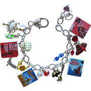 Classic Broadway Musicals Charm Bracelet with Tiny Posters – Unique Charms – Swarovski Cry