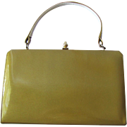 Vintage Kelly Vinyl Handbag in Sandy Taupe Color by Life Stride