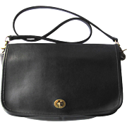 Vintage Coach Black Leather Handbag – New York City Bag from Original Coach Factory