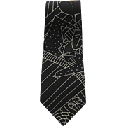 Vintage Beatles Necktie – I Call Your Name – in Black and White with Color ...