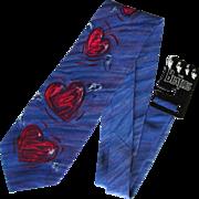 Vintage Beatles Necktie – And I Love Her – Mint with Original Beatles Rack Hanger