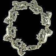 "SALE Amazing Sterling Horse Bracelet-7 1/2""."