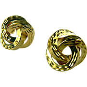 SALE Love Knot 14k Gold Earrings.