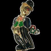 "SALE Whimsical Clown Brooch Design by ""JOMAZ""."