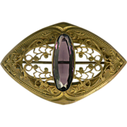 SALE Large Sash Pin, Circa 1910