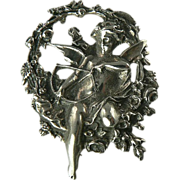 SALE Cupid Pin/Pendant Crafted in Sterling Silver.