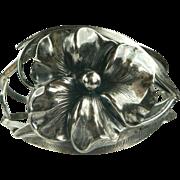 SALE Art Nouveau Floral Sterling Bracelet.