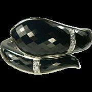 SALE Hand Crafted Sterling Snake Bracelet-Spinel & White Topaz.