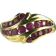 SALE Vintage Ruby Ring-14k-Size 10.