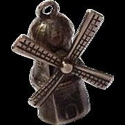 Vintage Travel Souvenir Windmill 800 Silver Charm