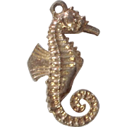 Vintage Sterling Seahorse Charm