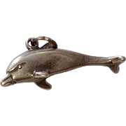 SALE Vintage Sterling Silver Dolphin Charm