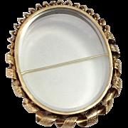 Antique 14K Victorian Keepsake Locket Brooch ~ Empty