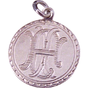 Double Sided Victorian Love Token Coin Charm / Pendant