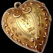Ornate Antique 10K Gold Locket Pendant