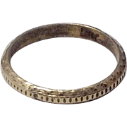 SALE 10K Antique Baby Ring Band