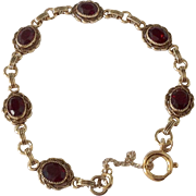 SOLD Vintage Multi 6CT Garnet Bracelet c1940