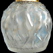 SALE 1920s Vintage Rene LALIQUE French Perfume Bottle Molinard Calendal Nudes Figural