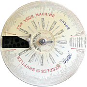 SALE Vintage 1907 Boye Needle Company Shuttle Store Display WITH Original Needles & Shuttles