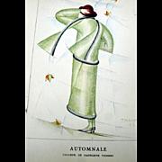 SALE RARE 1920s Art Deco GAZETTE BON TON Pochoir Fashion Print Vionnet 1923 Artist Ernesto ...