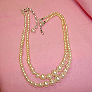 Vintage 2 Strand Faux Pearls