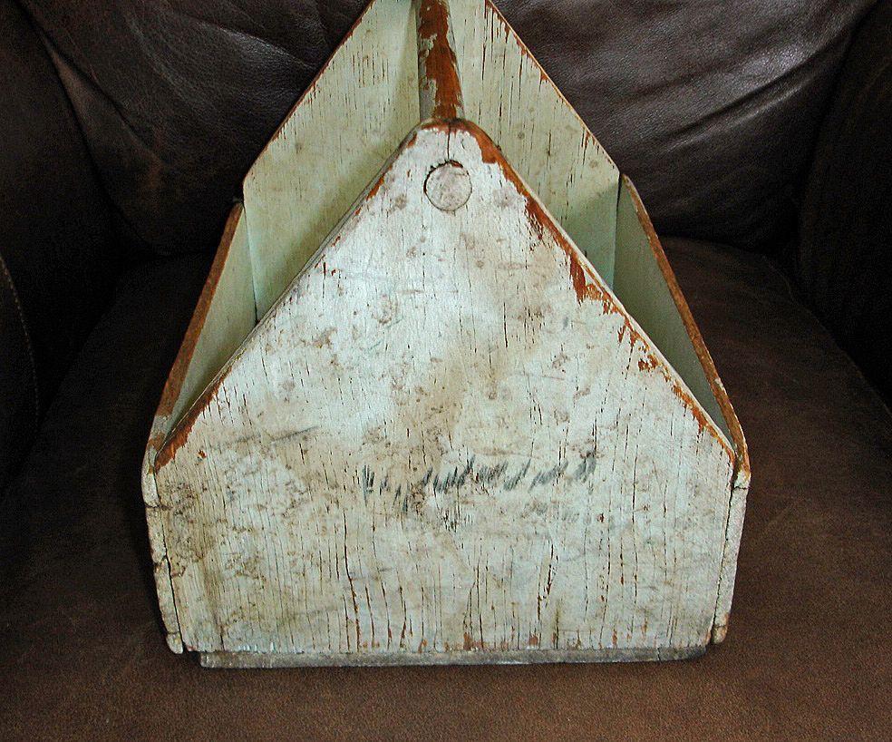 Antique Wooden Tool Carrier Antiques Center