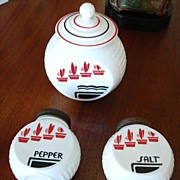 Anchor Hocking - Vitrock Grease Jar, Salt and Pepper Shakers - Kitchen Glass – Vintage Fire