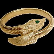 SALE TRIFARI Snake Bracelet – Vintage Trifari Snake Jewelry - Serpent Jewelry
