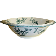 "Antique WH Grindley Transferware  Bowl - Doreen Pattern - 18"" Wash Bowl - Staffordshire,"