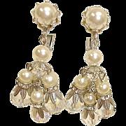 SALE Vintage VENDOME Dangle Drop Earrings - Chandelier Earrings By Vendome Jewelry