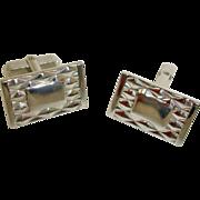 SALE Cuff Links - Vintage HINSON Silver Tone Cufflinks