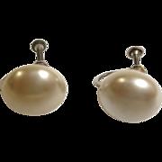 SALE Vintage Faux Mabe Pearl Earrings