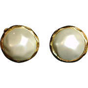 Faux Mabe Baroque Pearl Earrings – Vintage Glass Baroque Pearl Jewelry
