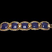 SALE NAPIER Chunky Blue Link Bracelet - Vintage Napier Jewelry