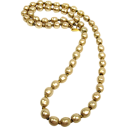 "SALE Vintage Miriam Haskell Faux Baroque Pearl Necklace - 26"" Long"
