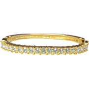 Vintage SWAROVSKI Crystal Gold Plated Bracelet - Bangle Clamper Bracelet