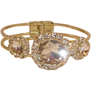 Rhinestone Clamper Bracelet