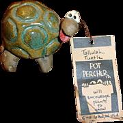 Vintage POTTERY  Tallulah Turtle Pot Percher