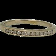 Estate Diamond Band Ring – Size 6 USA Eternity Band - Art Deco 14K White Gold ...