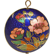 Vintage PENDANT - Cloisonne Enamel Pendant - For Necklace or Bracelet