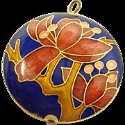 Vintage Cloisonne Enamel Pendant