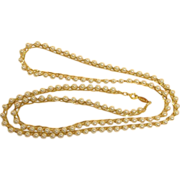"SALE NAPIER Gold Tone and Glass Pearl 30"" Necklace - Vintage NAPIER Jewelry"