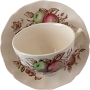 Johnson Bros. Transferware - Harvest Time CUP & Saucer - Made in England